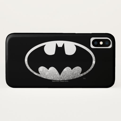 Batman Symbol | Grainy Logo iPhone X Case