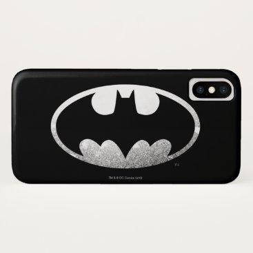 Batman Symbol | Grainy Logo iPhone XS Case