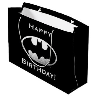 Batman Symbol | Grainy Logo Large Gift Bag