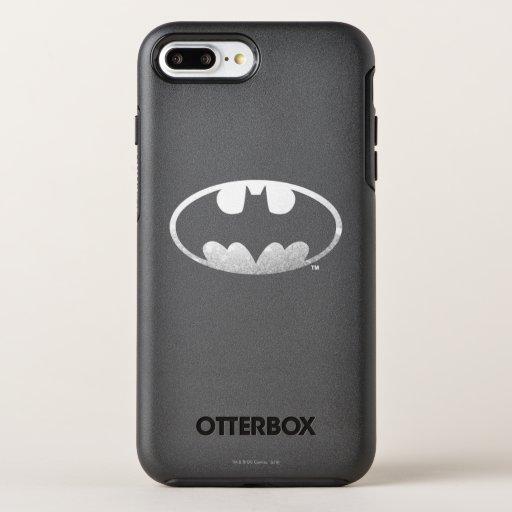 Batman Symbol | Grainy Logo OtterBox Symmetry iPhone 8 Plus/7 Plus Case