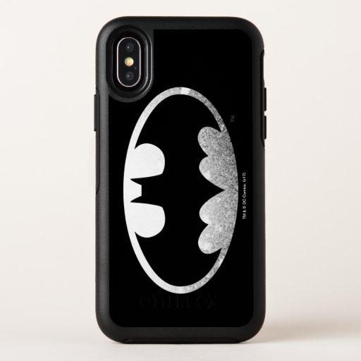 Batman Symbol | Grainy Logo OtterBox Symmetry iPhone X Case