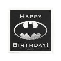 Batman Symbol | Grainy Logo Paper Napkin