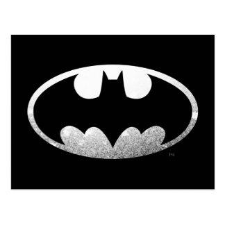 Batman Symbol   Grainy Logo Postcard
