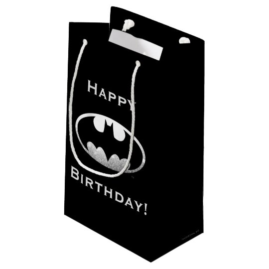 Batman Symbol Grainy Logo Small Gift Bag Zazzle