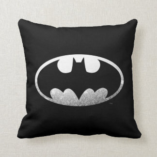 Batman Symbol | Grainy Logo Throw Pillow