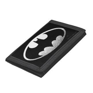 Batman Symbol   Grainy Logo Tri-fold Wallet