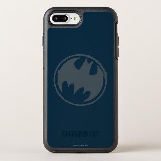 Batman Symbol | Gray Grunge Logo OtterBox Symmetry iPhone 8 Plus/7 Plus Case