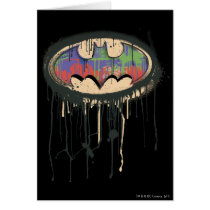 Batman Symbol | Green Purple Red Logo Card
