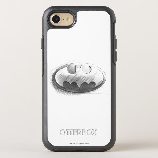 Batman Symbol | Insignia Drawing Logo OtterBox Symmetry iPhone SE/8/7 Case