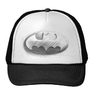 Batman Symbol   Insignia Drawing Logo Trucker Hat