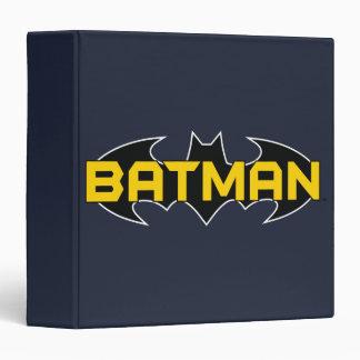 Batman Symbol   Name Yellow & Black Logo Binder