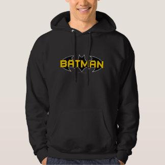 Batman Symbol | Name Yellow & Black Logo Hooded Sweatshirt
