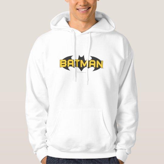 Batman Symbol   Name Yellow & Black Logo Hoodie
