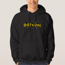 Batman Symbol | Name Yellow & Black Logo Hoodie