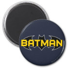 Batman Symbol   Name Yellow & Black Logo Magnet