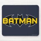 Batman Symbol   Name Yellow & Black Logo Mouse Pad