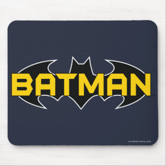 Batman Symbol | Name Yellow & Black Logo Mouse Pad