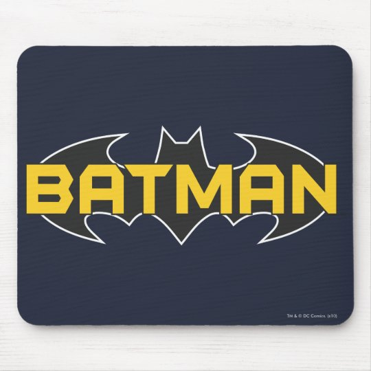 Batman Symbol Name Yellow Black Logo Mouse Pad Zazzle