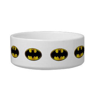 batman symbol oval gradient logo bowl - Cat Bowls