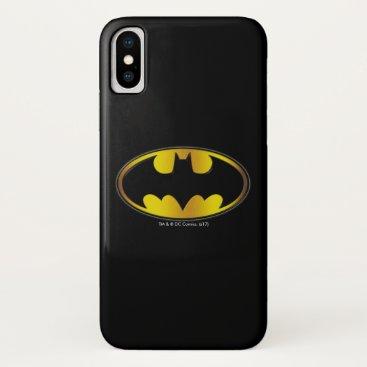 Batman Symbol | Oval Gradient Logo iPhone X Case