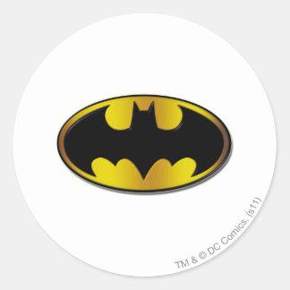 Batman Symbol | Oval Gradient Logo Classic Round Sticker