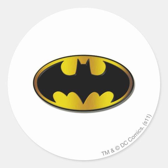 Batman Symbol   Oval Gradient Logo Classic Round Sticker