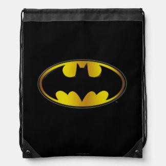 Batman Symbol | Oval Gradient Logo Drawstring Bag
