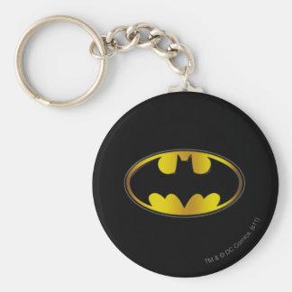 Batman Symbol | Oval Gradient Logo Keychain