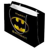 Batman Symbol   Oval Gradient Logo Large Gift Bag