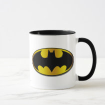 batman, batman logo, batman symbol, batman emblem, vintage mugs, yellow and black, joker, the joker, gotham, gotham city, batman movie, bat, bats, super hero, super heroes, hero, heroes, villians, villian, batman art, batman comics, comic, batman comic, dc batman, batman villians, the penguin, penguin, the roman, falcone, the boss, boss, corrupt, two-face, two face, harvey dent, catwoman, hush, scarecrow, the mad hatter, mister freeze, mr freeze, Mug with custom graphic design