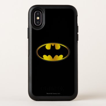Batman Symbol | Oval Gradient Logo OtterBox Symmetry iPhone X Case