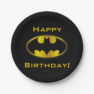 Batman Symbol   Oval Gradient Logo Paper Plate