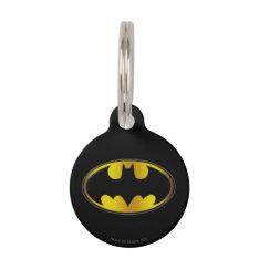 Batman Symbol | Oval Gradient Logo Pet Name Tag at Zazzle