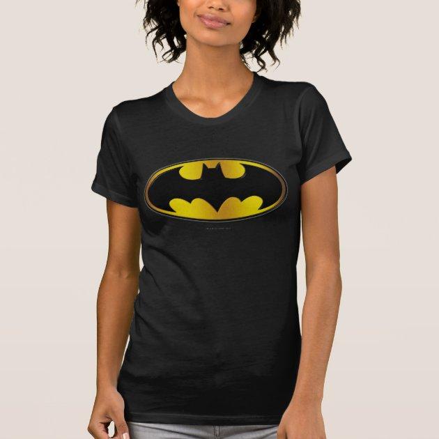 Batman COLOR GRADIENT BAT LOGO Licensed Women/'s T-Shirt All Sizes