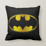 "Batman Symbol | Oval Gradient Logo Throw Pillow<br><div class=""desc"">Batman Hyperdrive</div>"