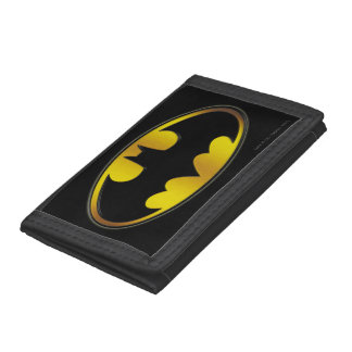 Batman Symbol   Oval Gradient Logo Tri-fold Wallet