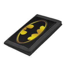 Batman Symbol | Oval Gradient Logo Trifold Wallets at Zazzle
