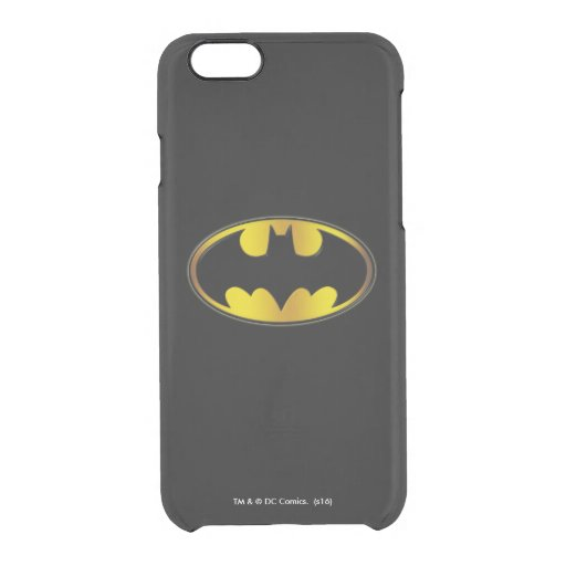 Batman Symbol | Oval Gradient Logo Clear iPhone 6/6S Case