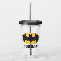 Batman Symbol | Oval Logo Acrylic Tumbler