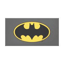 Batman Symbol | Oval Logo Canvas Print
