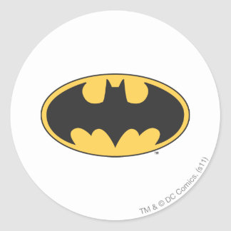 Batman Symbol | Oval Logo Classic Round Sticker