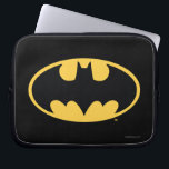 "Batman Symbol | Oval Logo Computer Sleeve<br><div class=""desc"">Batman Urban Legends Style Bat Logo | The classic Batman icon in black and a deep yellow.</div>"