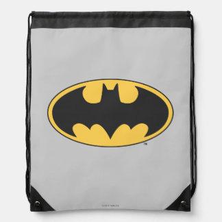 Batman Symbol | Oval Logo Drawstring Backpack