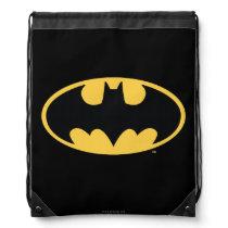 Batman Symbol | Oval Logo Drawstring Bag