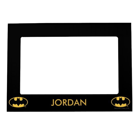 Batman Symbol | Oval Logo Magnetic Photo Frame | Zazzle.com