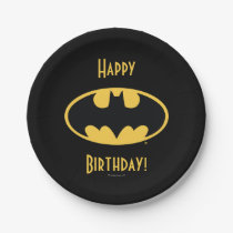 Batman Symbol | Oval Logo Paper Plate