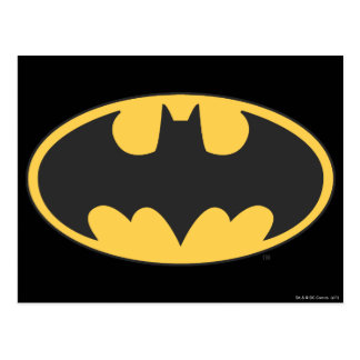 Batman Symbol | Oval Logo Postcard