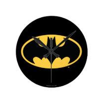 Batman Symbol | Oval Logo Round Clock
