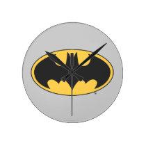 Batman Symbol   Oval Logo Round Clock