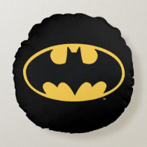 Batman Symbol | Oval Logo Round Pillow